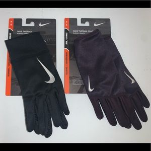 🔐 LOT OF 2 MENS NIKE THERMA TRAINING GLOVES